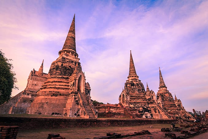 Day-6—Ancient-Buddhist-pagoda-ruins-at-Wat-Phra-Sri-Sanphet—iStock-505472006