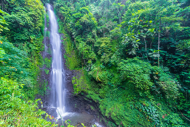 Munduk Waterfall and Blahmantung Waterfall and Mayong bali in Indonesia